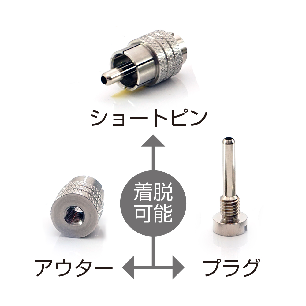 AET - EVO-RPS/2個セット(RCA端子用ショートピン・キャップ)(工業用ステンレス製)《JP》【在庫有り即納】