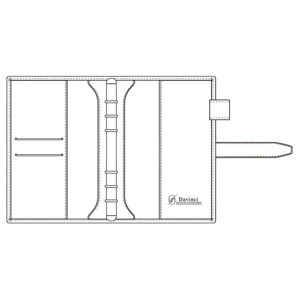【名入れ可】ダ・ヴィンチ グランデ オリーブレザー 聖書サイズ ブラウン システム手帳(リング15mm)