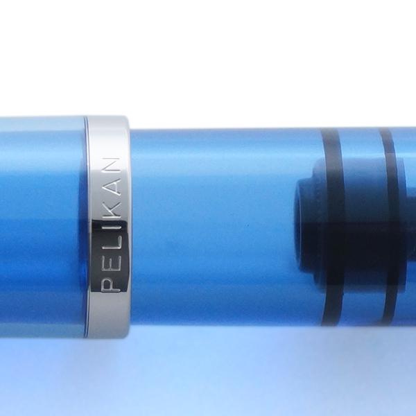 【即日発送/名入れなし】【限定品】ペリカン 万年筆 クラシック M205 デモンストレーター ブルー <特別生産品><WZ>