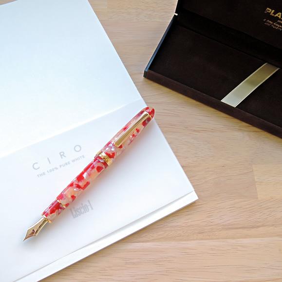 プラチナ万年筆 #3776センチュリー セルロイド キンギョ 万年筆