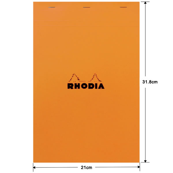 ロディア ブロックロディア No.19 方眼 オレンジ(A4+サイズ)