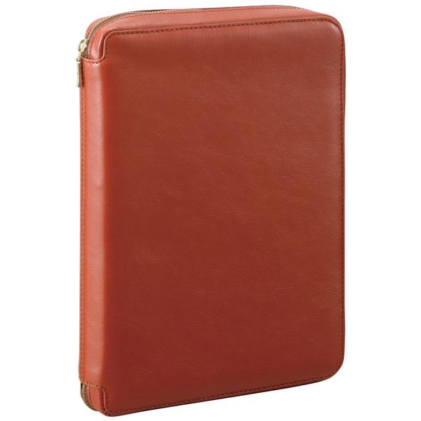 【名入れ可】ダ・ヴィンチ スタンダード A5サイズ ラウンドファスナータイプ ブラウン システム手帳(リング25mm)