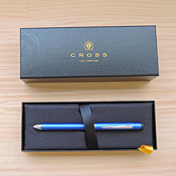 クロス 複合ペン テックスリー メタリックブルー