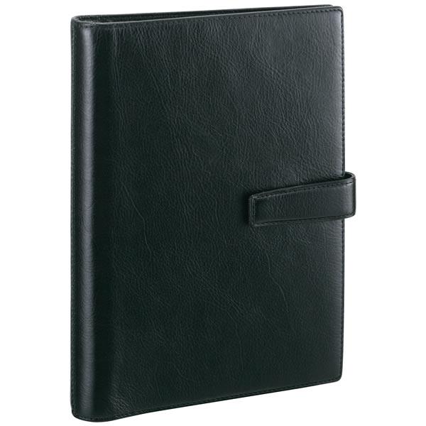【名入れ可】ダ・ヴィンチ スタンダード A5サイズ ブラック システム手帳(リング20mm)