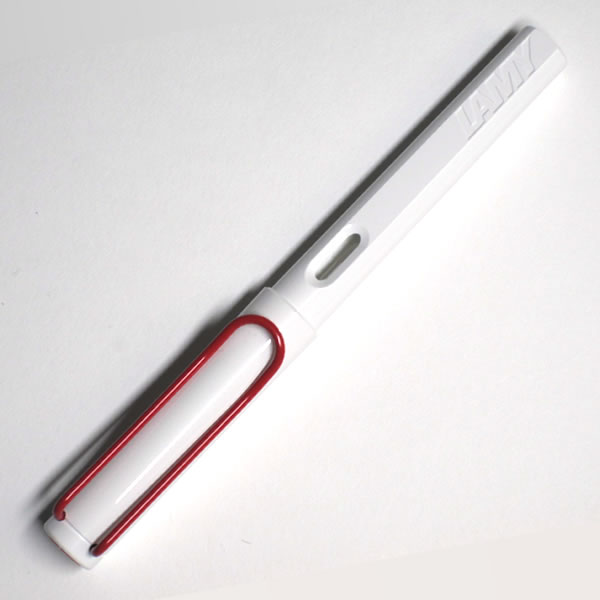 【限定品】ラミー 万年筆 サファリ ホワイト レッドクリップ <限定カラー>