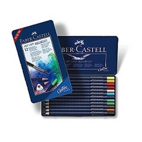 ファーバーカステル 水彩色鉛筆 アートグリップ 24色 缶入り <鉛筆削りおまけ付き>