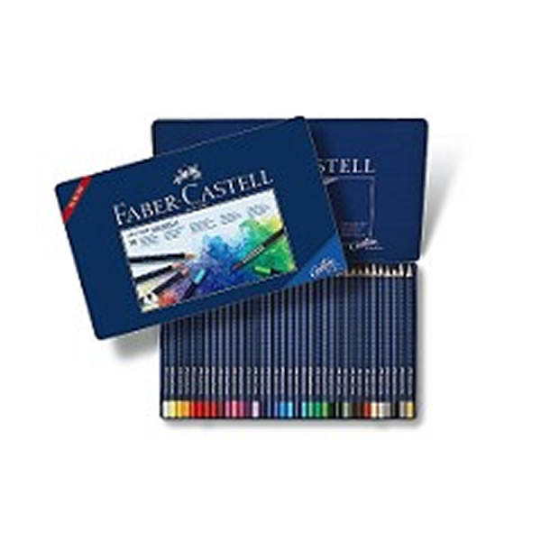 ファーバーカステル 水彩色鉛筆 アートグリップ 36色 缶入り <鉛筆削りおまけ付き>