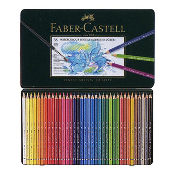 ファーバーカステル アルブレヒトデューラー 水彩色鉛筆 36色缶入り <鉛筆削りおまけ付き>