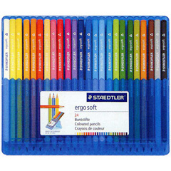 【グッドデザイン賞受賞】ステッドラー 色鉛筆 エルゴソフト 24色セット