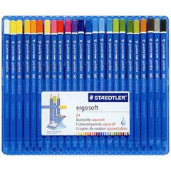 【グッドデザイン賞受賞】ステッドラー 水彩色鉛筆 エルゴソフトアクアレル 24色セット