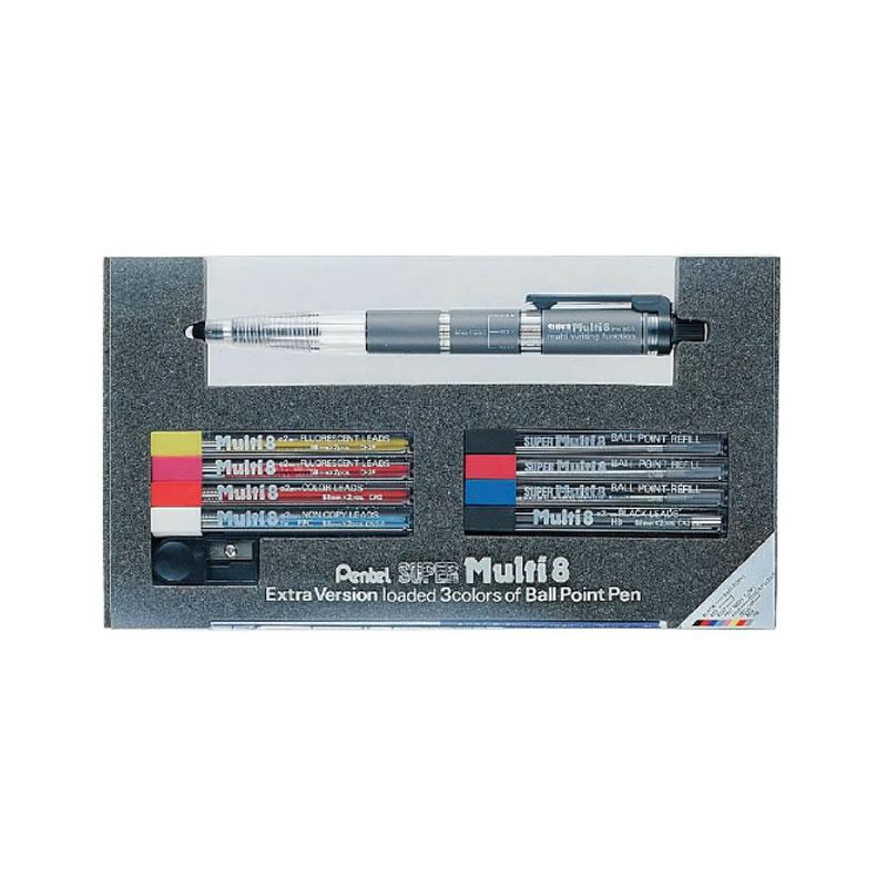 ぺんてる 多機能ペン スーパーマルチ8セット PH803ST
