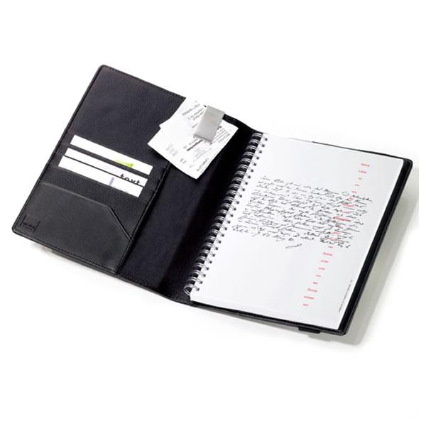 トロイカ DIN手帳カバー(片面開き) ミッドナイト A5サイズ