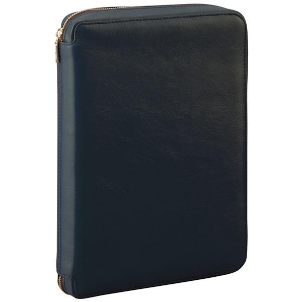 【名入れ可】ダ・ヴィンチ スタンダード 聖書サイズ ラウンドファスナータイプ ブラック システム手帳(リング24mm)