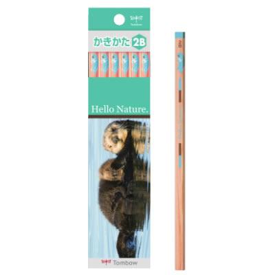 トンボ鉛筆 ハローネイチャー(Hello Nature.)かきかた鉛筆 ラッコ 1ダース