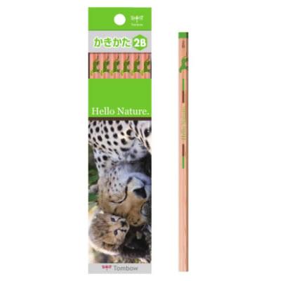 トンボ鉛筆 ハローネイチャー(Hello Nature.)かきかた鉛筆 チーター 1ダース
