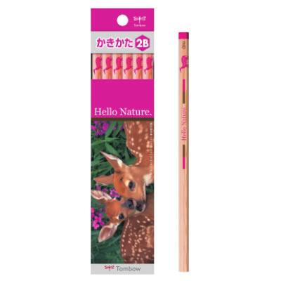 トンボ鉛筆 ハローネイチャー(Hello Nature.)かきかた鉛筆 オジロジカ 1ダース