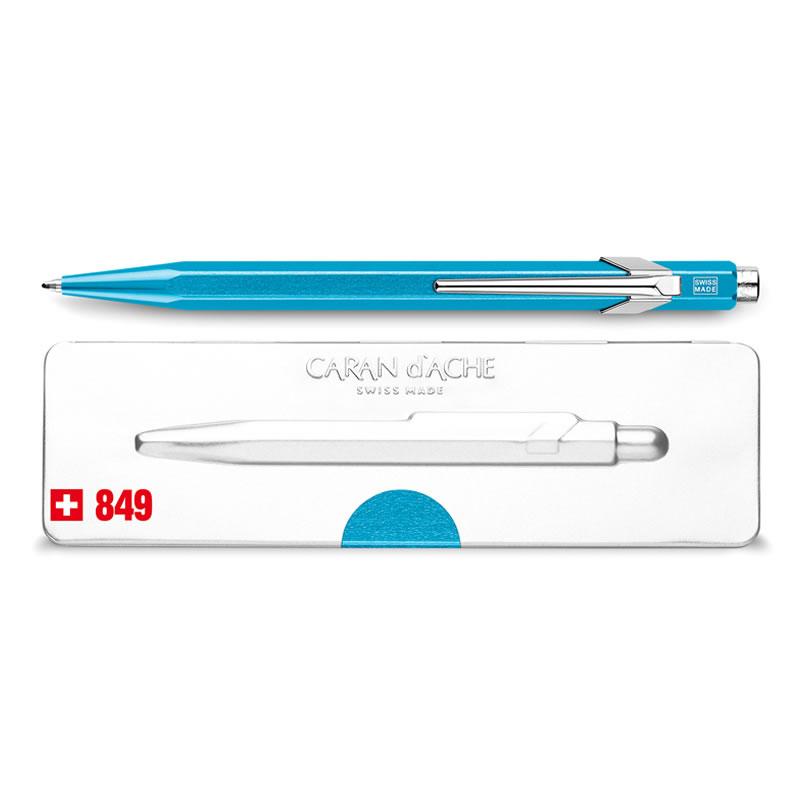 カランダッシュ ボールペン 849 POPLINE(ポップライン) メタルX ターコイズ