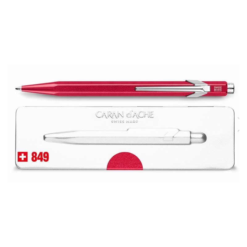 カランダッシュ ボールペン 849 POPLINE(ポップライン) メタルX レッド