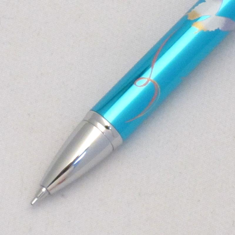 セーラー 複合筆記具 優美蒔絵 蝶 メタルブルー