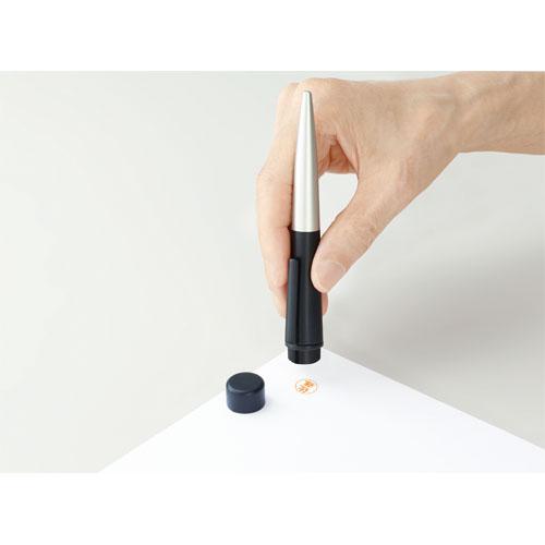 【メールオーダー式】シャチハタ ネームペン ディアレ シルバー&ワインレッド <印鑑付きボールペン>