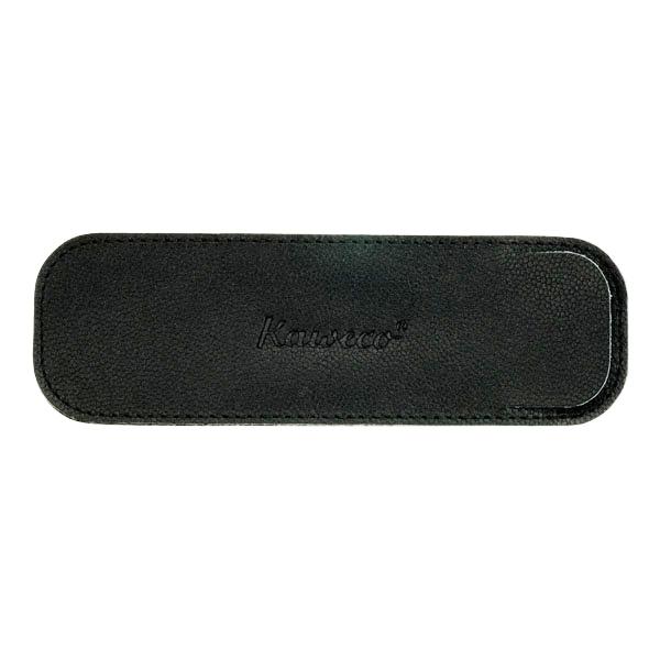カヴェコ エコ ソフトレザー ロングケース ペンケース 2本用 ブラック