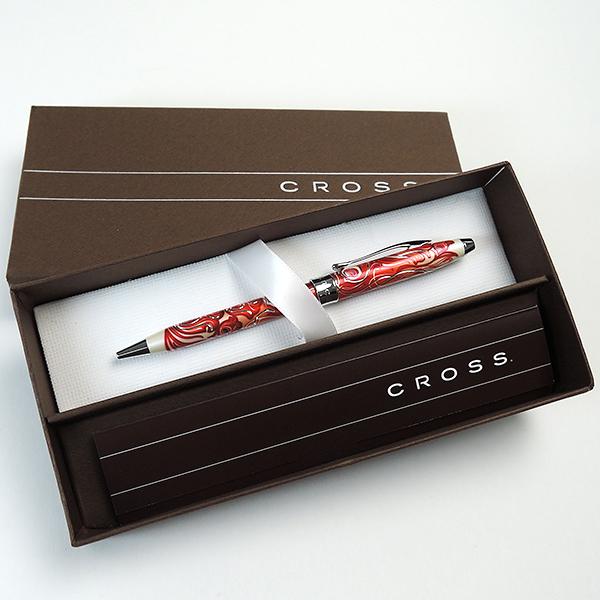 スリップオン ノワール カードケース + クロス ボールペン マスカレード <ギフトセット>