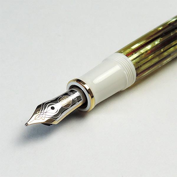 ペリカン 万年筆 スーベレーン M400 ホワイトトータス <ボトルインクおまけ付>