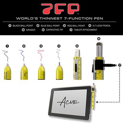 アクメ 多機能ペン 7FP(セブンファンクションペン) クロスワード