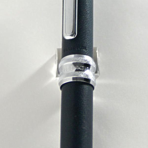 プラチナ万年筆 多機能ペン ダブル3アクション 牛ヌメ本革巻き ブルー