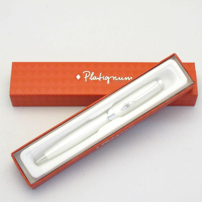 プラティグナム ボールペン LOVE ホワイト