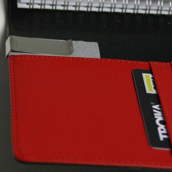 トロイカ DIN手帳カバー(片面開き) レッドペッパー A4サイズ