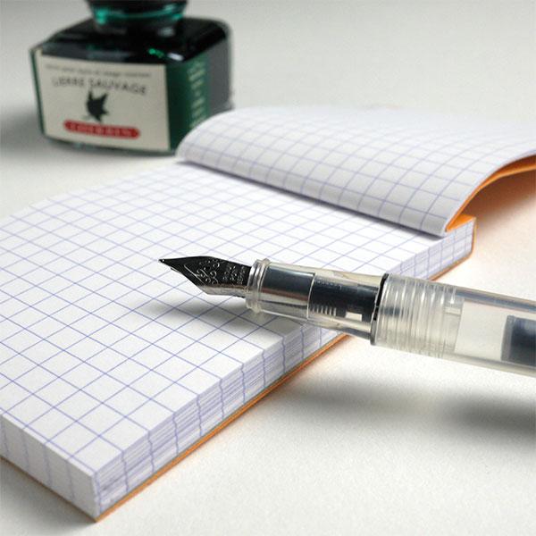 エルバン 万年筆 カートリッジインク用 スケルトン