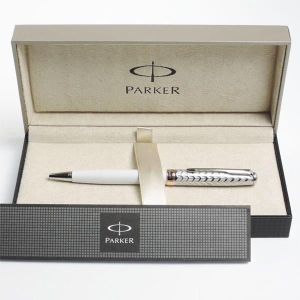 パーカー ボールペン ソネット メタル&パールCT <リフィルおまけ付き>