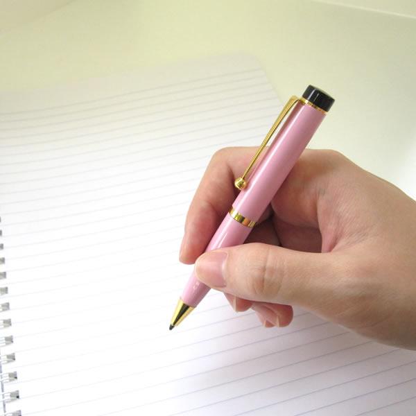 【即日発送/名入れなし】 大西製作所 ミニボールペン 350 カラー ももいろ
