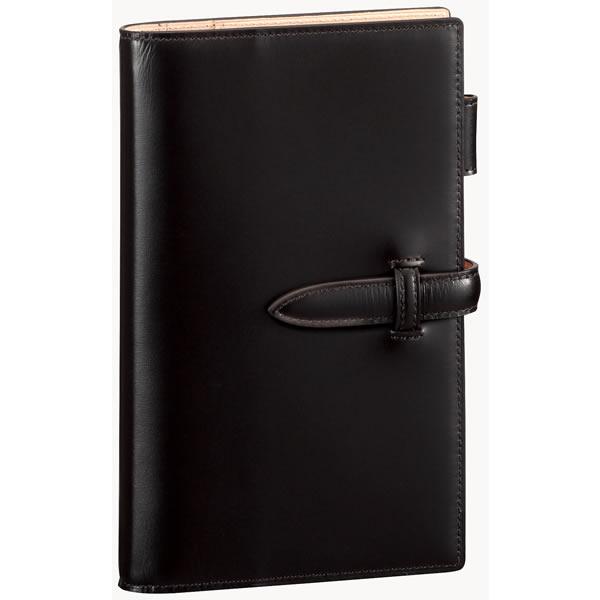 【名入れ可】ダ・ヴィンチ グランデ ペリンガーカーフ 聖書サイズ ブラック システム手帳(リング15mm)