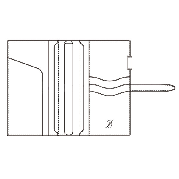 【名入れ可】ダ・ヴィンチ グランデ ペリンガーカーフ 聖書サイズ ダークブラウン システム手帳(リング15mm)