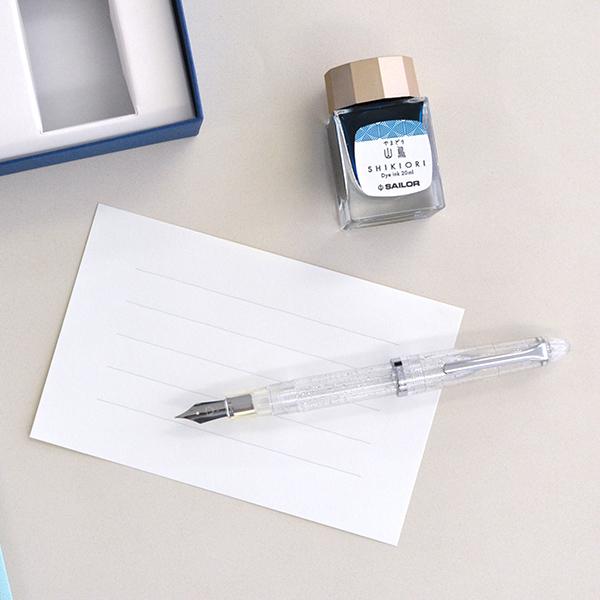 【即日発送/名入れなし】 セーラー万年筆 プロフィットJr透明感 ラメ入り万年筆セット(シルバーラメ)