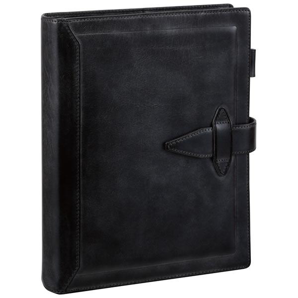 【名入れ可】ダ・ヴィンチ グランデ ロロマクラシック A5サイズ ブラック システム手帳(リング30mm)