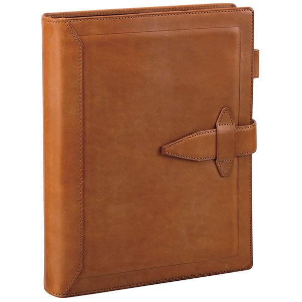 【名入れ可】ダ・ヴィンチ グランデ ロロマクラシック A5サイズ ブラウン システム手帳(リング30mm)