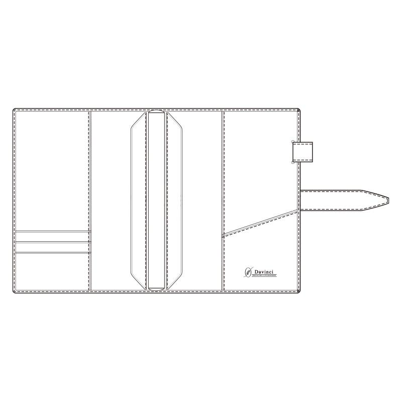 【名入れ可】ダ・ヴィンチ グランデ ロロマクラシック A5サイズ ダークブラウン システム手帳(リング20mm)
