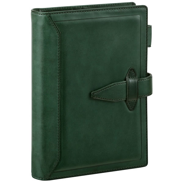【名入れ可】ダ・ヴィンチ グランデ ロロマクラシック 聖書サイズ グリーン システム手帳(リング24mm)