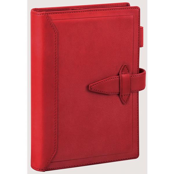 【名入れ可】ダ・ヴィンチ グランデ ロロマクラシック 聖書サイズ レッド システム手帳(リング24mm)