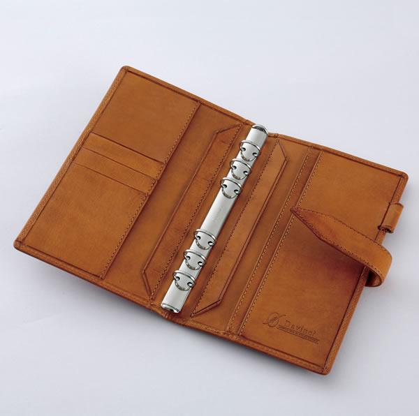【名入れ可】ダ・ヴィンチ グランデ ロロマクラシック 聖書サイズ ダークブラウン システム手帳(リング15mm)