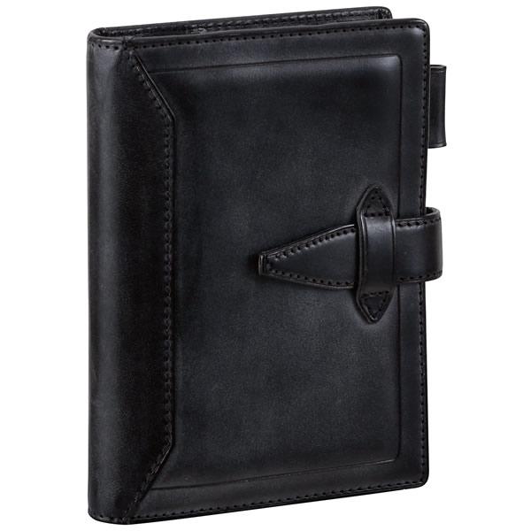 【名入れ可】ダ・ヴィンチ グランデ ロロマクラシック ポケットサイズ ブラック システム手帳(リング14mm)