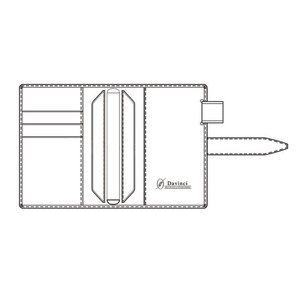 【名入れ可】ダ・ヴィンチ グランデ ロロマクラシック ポケットサイズ レッド システム手帳(リング14mm)
