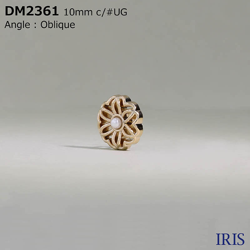 DM2361 パールコーティング/ダイカスト 丸カン足ボタン  1サイズ2色展開