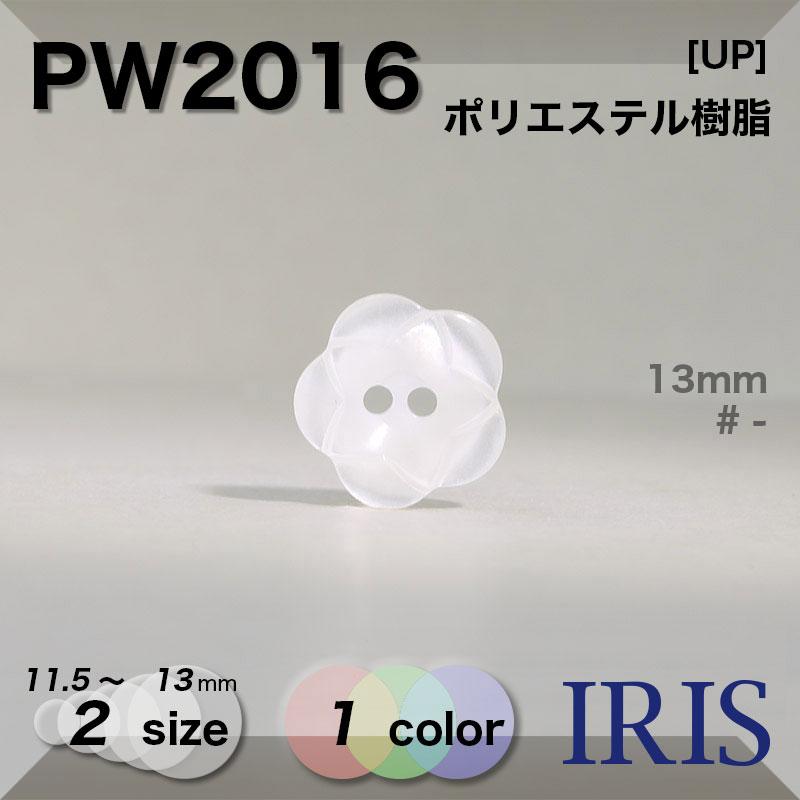 PW2016 ポリエステル樹脂 表穴2つ穴ボタン  2サイズ1色展開