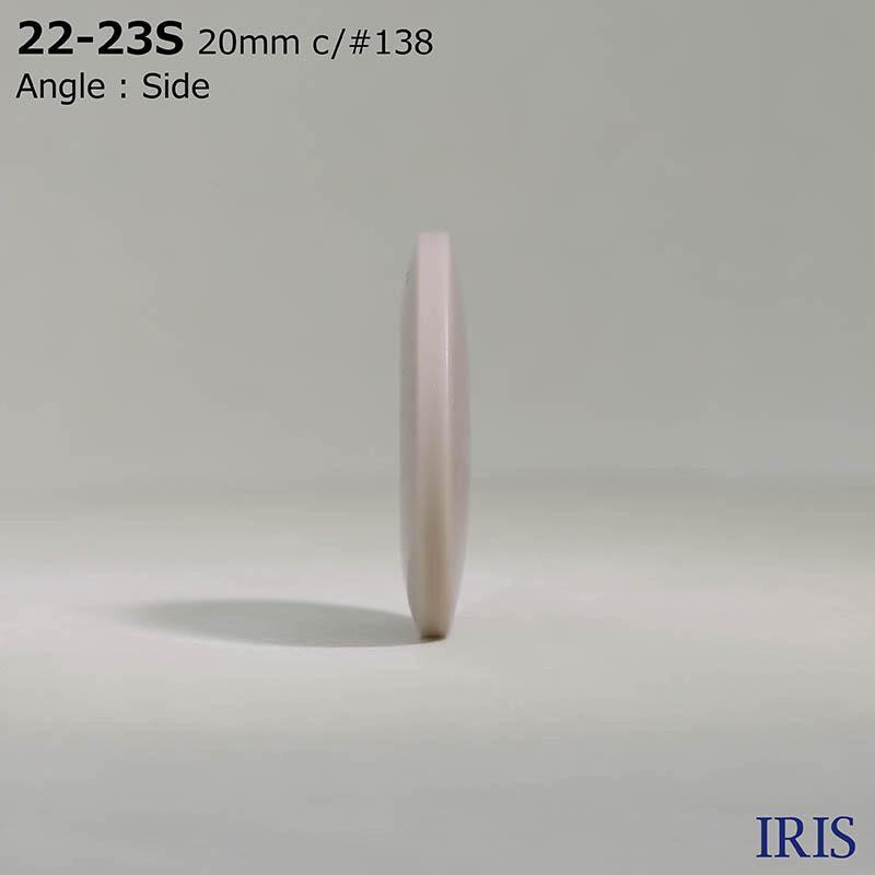 22-23S ポリエステル樹脂 表穴4つ穴ボタン  5サイズ12色展開