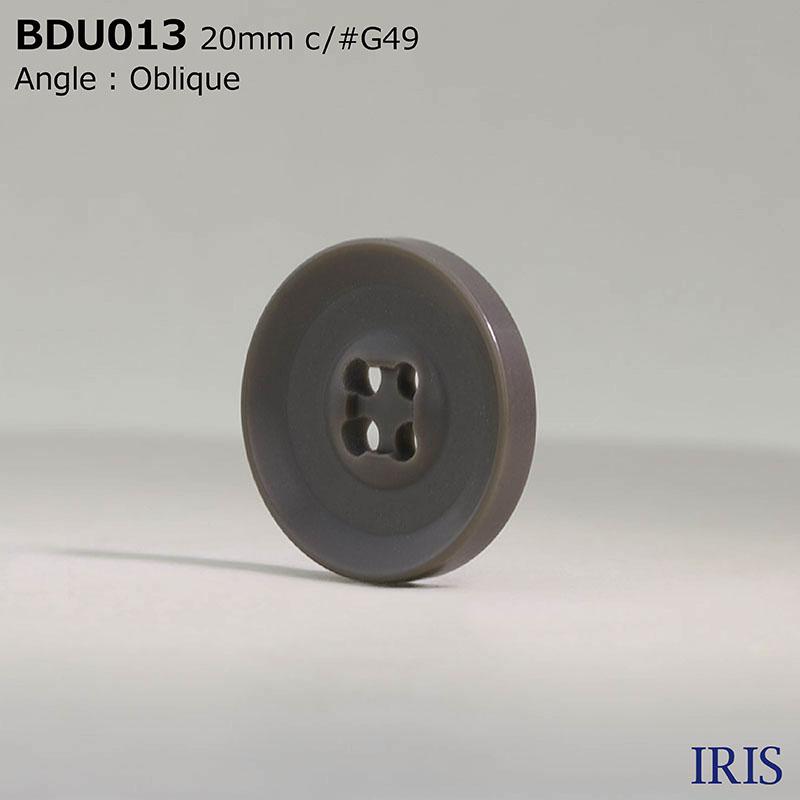 BDU013 ポリエステル樹脂 表穴4つ穴ボタン  5サイズ6色展開