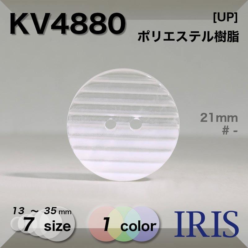 KV4880 ポリエステル樹脂 表穴2つ穴ボタン  7サイズ1色展開